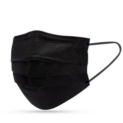 Face mask black (50 pieces)