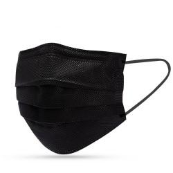 Masque buccal noir (50 pièces)